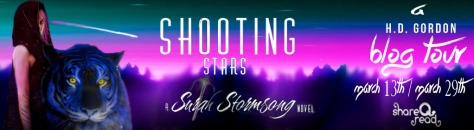 Shooting stars Book tour Banner