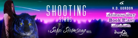 Shooting stars Release Day Book Blast Banner